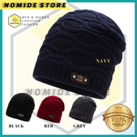 Topi Kupluk Rajut Beanie Winter Eiger Hat Pria Wanita Import FASHION M - KPA-4 NAVY