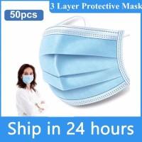 Masker Kesehatan 3Ply Earloop - Isi 50pcs Resmi zp
