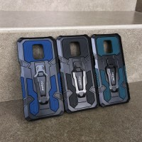 Xiaomi Redmi Note 9 Pro Mecha Army Military Belt Clip Stand Armor Case