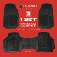 HONDA BRIO KARPET MOBIL DURABLE COMFORT UNIVERSAL 3 PCS PVC - Hitam