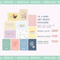 Moon Pancake Cute Mini Art Print / Postcard Bundle Set