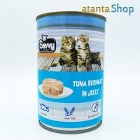 Savvy - 400g Tuna RedMeat in Jelly kornet kucing