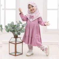 Baju Gamis Anak Perempuan / Gamis Syari Nayla Set
