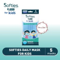 Softies Daily FOR KIDS Mask Earloop 3 ply Masker 5 pcs