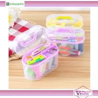 Sewing Box Kit Set Isi 12 Roll Alat Jahit Set Box Peralatan Jahit - WS