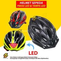 Helm Sepeda Gunung Balap Bicycle Road Helmet PVC Shell Backlight LED - Kuning, NO LAMPU