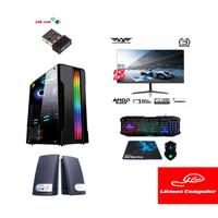 Paket 1 Set PC Komputer Gaming Editing Ryzen 3 3200G Vega 8 PSU 80+