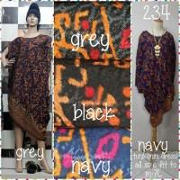 Tunik (mini dress) batik dolby(adem.tebal.lembut)all size fit to m-7L