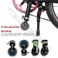 Landing Gear Sepeda Lipat Seli Dahon Fnhon Tern Easy Wheel Roda Kecil