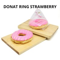 Donat Ring Strawberry Dip | Stroberi | Roti Kue Donat