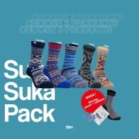 3 Pasang Kaos Kaki Klitser Suka-Suka Pack