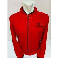 Jaket sepeda shimano parasut/jaket sauna/jaket olahraga/jaket jogging - Merah
