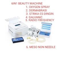 alat kecantikan 6in1 meso non needle galvanic mikro dermabrasi rf setr