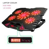 Stand Dudukan Laptop with Cooling Fan Kipas Pendingin Macbook Laptop - LED Merah