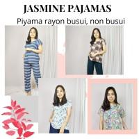 JASMINE PIYAMA RAYON BUSUI JUMB - LD130 - BAHAN ADEM MOTIF KEKINAN