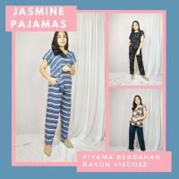 JASMINE. PIYAMA RAYON JUMBO - LD130 - BAHAN ADEM MOTIF LUCU KEKINIAN