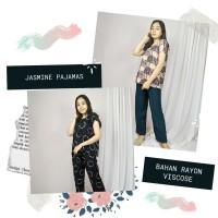 JASMINE PAJAMAS. PIYAMA JUMBO - LD130 - BAHAN RAYON A - MOTIF LUCU