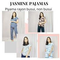 JASMINE PAJAMAS. PIYAMA RAYON JUMBO - LD130 - BAHAN ADEM MOTIF LUCU