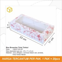 Box Brownies, Packaging, Dus Kue, Kotak,Kardus Roti Cake - CB231105-WT