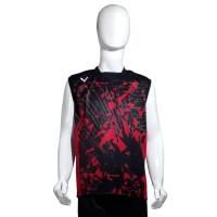 Kaos Olahraga Badminton Pria - Hitam Merah