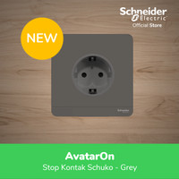 Schneider Electric AvatarOn Stop Kontak Schuko - Grey