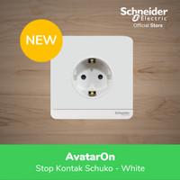 Schneider Electric AvatarOn Stop Kontak Schuko - White