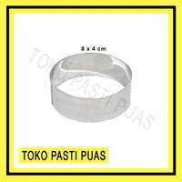 Ring Burger / Ring Roti / Ring Cutter Bulat Cetakan Kue Stainless