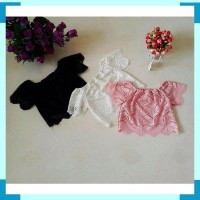 Baju Atasan Anak Perempuan Simple Casual Lace Outfit Importt ZHJSP029.
