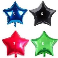 Balon Foil 40 Cm Motif Bulat Love Dan Bintang