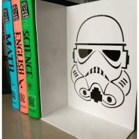 Star Wars Storm Troopers Pembatas Buku Besi Rak Buku Book End