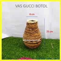 Vas bunga rustic , vas bunga scandinavian, vas bunga anyaman Pelepah