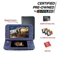 New Nintendo 3DS XL + Full Game 3DS + Game NDS + Gateway (PRE-OWNED)
