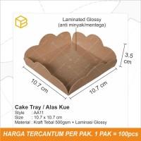 Alas Kue Chiffon Cake Tatakan Kue Tatak Tray Mini Cake - AA11