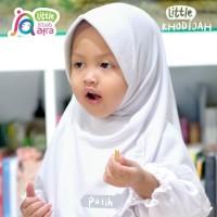 Jilbab Anak Little Khodijah Putih - Jilbab Arfa - Bergo renda baby