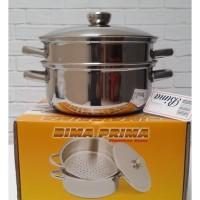 Panci BIMA Stainless steel POT & Steamer 26 Cm 26cm / kukusan 2 susun