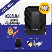Adata Hardisk External 4tb usb 3.1 HD710 pro -Original - FREE 3 HADIAH