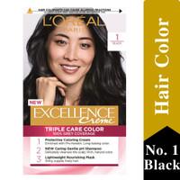 L'oreal Paris Excellence Creme Hair Color Cat Rambut Black (Hitam)