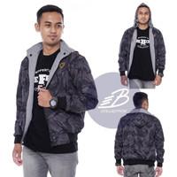 Jaket DC Army Bolak-Balik Parasut Despo Fleece - BB Loreng Ukuran XXL