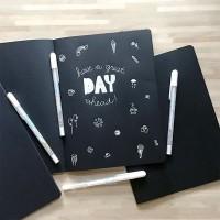 Black Paper Plain Notebook B5 / Buku Hitam Polos / Buku Catatan