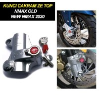 Ze Top Kunci Disk Cakram Yamaha Nmax 155 Gembok Anti Maling