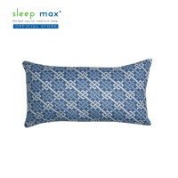 Sleep Max Long Cushion/Bantal Sofa Panjang Katun 28x50 Cm-Kotak Biru
