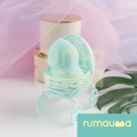 RUMAUMA 1 Set Puff + Holder Makeup Sponge Beauty Blender Kosmetik Unik
