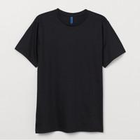 Kaos Pria H&M Crew Neck Regular Fit Lengan Pendek T-Shirt Original