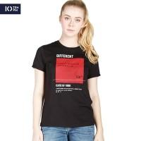 Kaos Lengan Pendek Wanita / Different Black Tee 12045P4BK -10PM