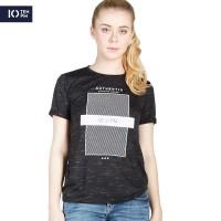 Kaos Lengan Pendek Wanita / Faber Black Tee 12051P4BK - 10PM