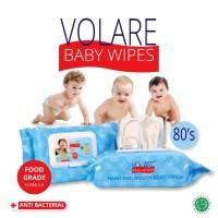 Volare 80 Hand Mouth Baby Wipes Antiseptic Tangan Mulut Bayi Tissue
