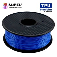 SUPEL Filament Filamen Printer 3D TPU Fleksibel 1.75 mm Blue | Biru