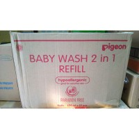 (GOJEK/GRAB) Pigeon Baby Wash Chamomile 2in1 600ml refill 2 in 1 (dus)