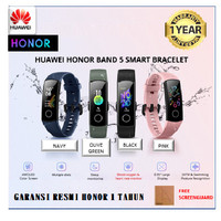 Huawei Honor Band 5 Smartband Blood Oxygen Heart Rate Alt 4 Original - Biru