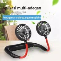 Kipas Leher / Kipas Angin Leher Gantung Mini Portable Neck Fan Lipat